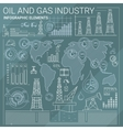 Oil and Gas Industry Infographic Elements vector image vector image