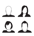 people head silhouettes vector image vector image