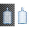 plastic bottle water cooler big bottle mockup 3d vector image
