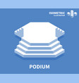 podium icon isometric template for web design vector image