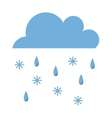 rain and sbow cloud vector image vector image
