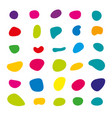 random blob colorful organic pattern spot shape vector image