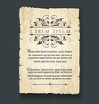 retro design elements on old paper sheet vector image vector image