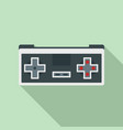 retro game controller icon flat style vector image vector image