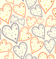 seamless pattern of dotted hearts vector image