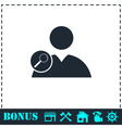 Search user icon flat vector image vector image