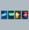 set brochure design cover template for brochure vector image