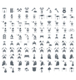 Set of 100 camp cooking icons vector image