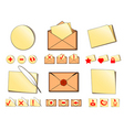 set of icons for email vector image vector image