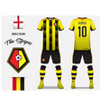 soccer jersey or football kit template design vector image vector image