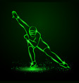 speed skating neon winter sport vector image vector image
