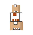 stacked cardboard boxes goods package delivery vector image