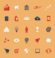 Startup business classic color icons with shadow vector image vector image