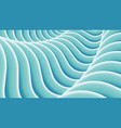 stylized wavy abstract background vector image vector image
