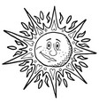sun backgrounds line art vector image