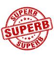 superb stamp vector image vector image