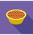 Thanksgiving pie icon flat style vector image vector image