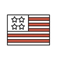 united states of america flag icon vector image