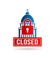 usa government shutdown vector image