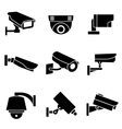 Video surveillance security cameras vector image vector image
