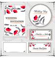 Wedding invitation cards and tag wedding set vector image vector image