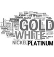 white gold text word cloud concept vector image vector image