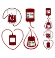 World Blood Donor Day Set icons vector image