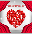 world hemophilia day poster realistic vector image