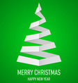 Christmas tree made of folded paper origami 16 vector image