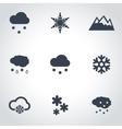 black snow icon set vector image