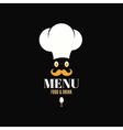 menu chef egg design background vector image