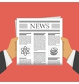Newspaper in hand vector image