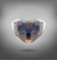 abstract triangle polygonal koala abstract vector image vector image