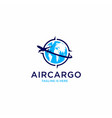 aircargo aviation logo template vector image vector image