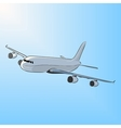 Airplane in the sun vector image vector image