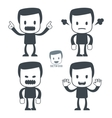 angry man icon vector image vector image