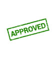 approved seal rubber stamp sign grunge vector image