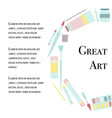 art supplies circle concept vector image vector image