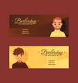 barbersop banner hipster vector image