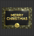 black and gold card with gold circle frame ribbon vector image vector image