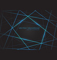 blue line light laser cross overlap on dark grey vector image vector image