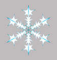 blue-white snowflake vector image vector image