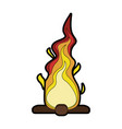 bonfire isolated symbol vector image vector image