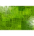 Bright green grunge tech background vector image