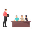 business train boss workers vector image