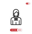 businesswoman icon vector image vector image