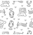 collection of music theme doodles vector image vector image