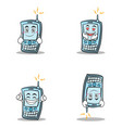 collection phone character cartoon style set vector image vector image