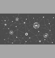 concept of social media network symbol of vector image vector image