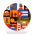 cuba havana travel concept vector image vector image